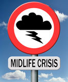 Midlife crisis mental depression Royalty Free Stock Image