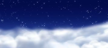 midmight niebo Zdjęcia Stock