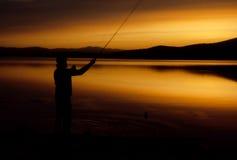 Midnatt fiske Royaltyfri Fotografi