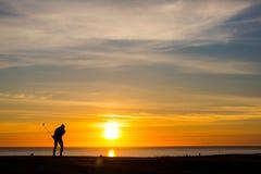 Midnatt golf 15 Arkivfoto