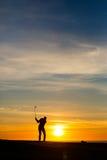 Midnatt golf 18 Fotografering för Bildbyråer