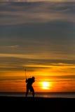 Midnatt golf X Royaltyfri Bild