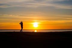 Midnatt golf XI Arkivfoton
