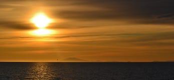 Midnatt sol Royaltyfri Foto