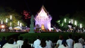 Midnatt som ber för nytt år Royaltyfria Foton