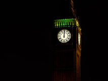 Midnight with Big Ben. New Year background Royalty Free Stock Image