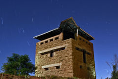 Midnight Blockhouse stock photo