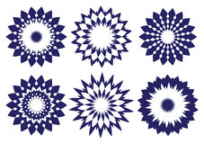 Midnight Blue abstract vector kaleidoscopic design element Royalty Free Stock Image