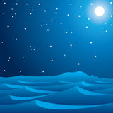 Midnight blue with sparking star Stock Photography