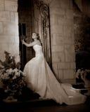 Midnight Bride 9. Beautiful bride in lowkey lighting Stock Photography
