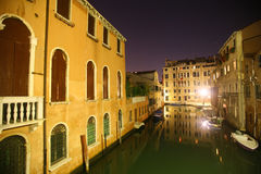 Midnight canal Royalty Free Stock Photography