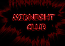 Midnight Club Banner Stock Photography