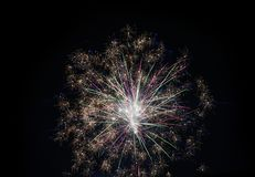Fireworks display. At midnight a colorful fireworks display is orchestrated by the main families of the villages in order to ward off evil spirits royalty free stock images