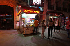 Midnight Creperie Royalty Free Stock Photography