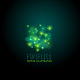 Midnight Fireflies Vector Royalty Free Stock Photo