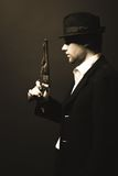 Midnight gangster in vintage look. Royalty Free Stock Images