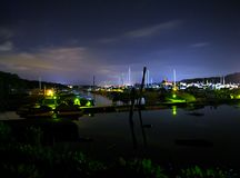 Midnight at the harbor Royalty Free Stock Photo