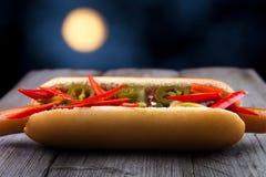 Midnight hot dog Stock Photos