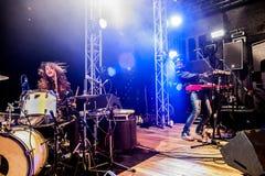 Midnight Juggernauts concert Stock Photo