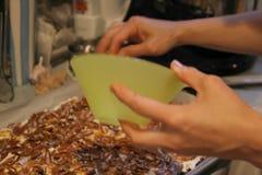 Midnight Kitchen making ice cream sandwiches 18July06 - 9 Stock Photography