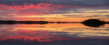 Midnight lake Royalty Free Stock Photography
