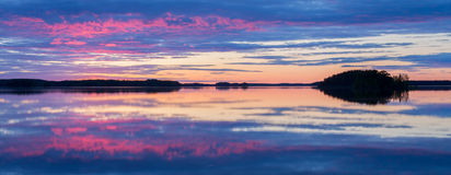 Midnight lake Royalty Free Stock Image