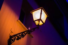 Midnight lamp. Air bright bulb concept concert Royalty Free Stock Image
