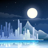 Midnight landscape Royalty Free Stock Photography