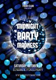 Midnight Madness Party. Template poster. Vector illustration. Midnight Madness Party. Template poster. Vector EPS10 stock illustration