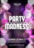 Midnight Madness Party. Template poster Vector illustration.  royalty free illustration