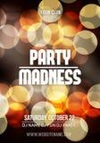 Midnight Madness Party. Template poster Vector illustration vector illustration