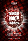Midnight Madness Party. Template poster. Vector illustration. Midnight Madness Party. Template poster. Vector EPS10 royalty free illustration