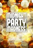 Midnight Madness Party. Template poster Vector illustration.  stock illustration