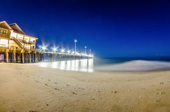 Midnight at nags head pier and beach Stock Photo