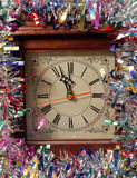 Midnight New Years Eve. A clock a midnight on New Years Eve stock image