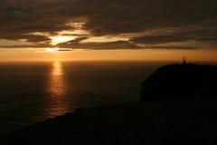 midnight norr sun för 2 udd Fotografering för Bildbyråer