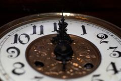 Midnight old clock Royalty Free Stock Images