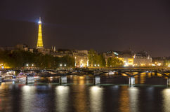 Midnight in Paris Royalty Free Stock Photos