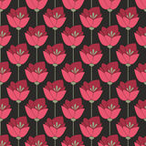 Midnight red flowers. Seamless background. For your design Stock Images