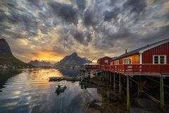 Midnight in Reine Stock Photos