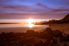 Midnight słońce Fotografia Royalty Free