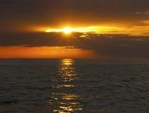 Midnight słońce w północnym Norwegia Zdjęcie Stock