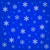 Midnight snowfall. Winter background with falling snowflakes Stock Photography