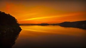 midnight solnedgång fotografering för bildbyråer