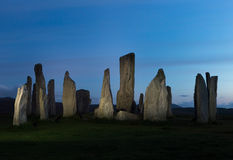 Midnight standing stones Royalty Free Stock Photo
