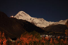 Midnight in Stepantsminda (Kazbegi) Royalty Free Stock Image
