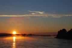 midnight sun arkivfoto