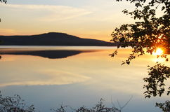 Midnight Sun. (the Arctic Circle, Northern Sweden Stock Image