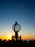 Midnight sun. On North Cape Stock Photography