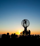 Midnight sun. On North Cape Royalty Free Stock Images